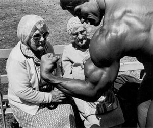muscles, arnold, and funny image