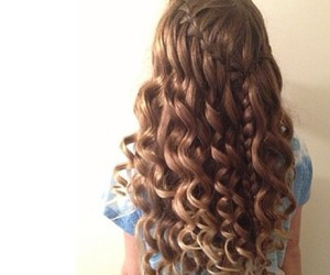 beautiful, curls, and girl image