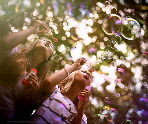 bubbles, summer, and fun image