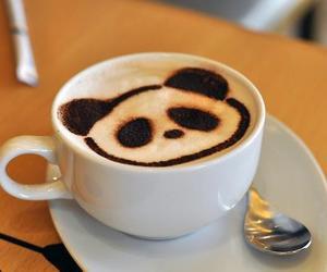 panda, coffee, and cafe image