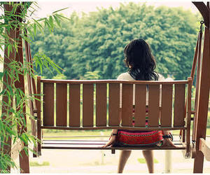 girl and lonely image