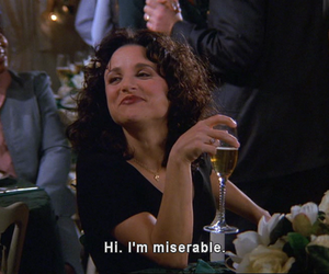 miserable, quotes, and seinfeld image