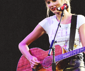 taylow swift and guitar beautiful image
