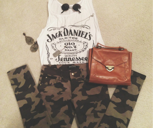 jack daniels, outfit, and army pants image