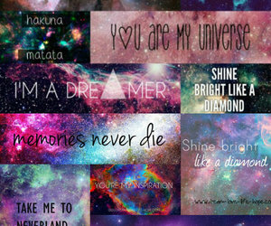 dreamer, galaxy, and universe image