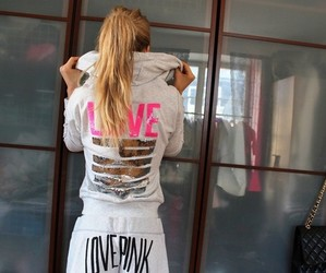 blonde, pink, and love pink image
