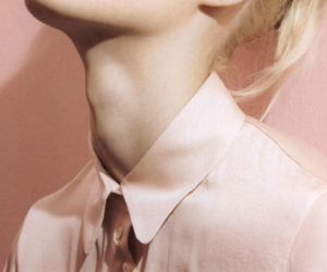 pink, blonde, and neck image