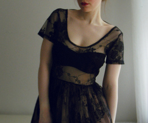 dress, girl, and lace image