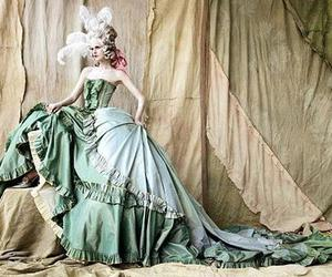 dress, baroque, and gown image