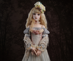 doll, dress, and victorian image