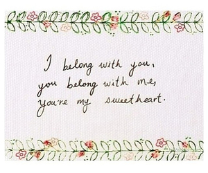 quote, sweetheart, and lumineers image