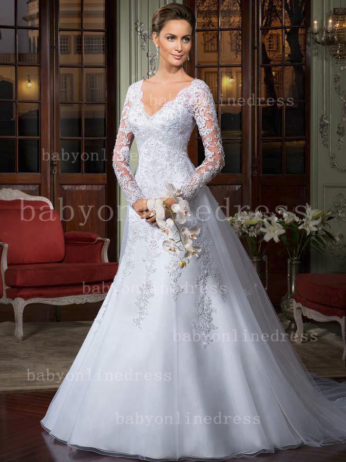 Free Shipping Dresses For Weddings Brazil Pattern V Neck