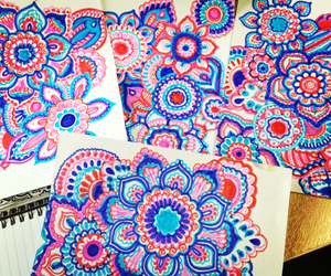 art, blue, and doodles image