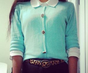 belt, blouse, and blue image