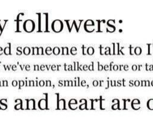 followers, heart, and talk image