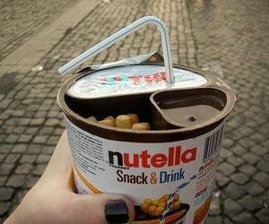 drink, nutella, and snack image