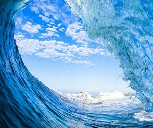 blue, waves, and water image