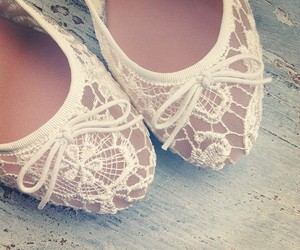 ballet flats, bridal, and bride image