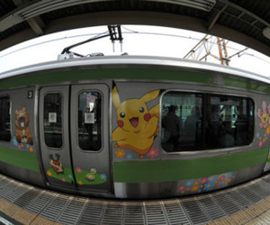 pokemon and train image