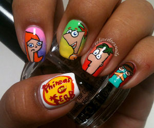 nails, phineas and ferb, and disney image