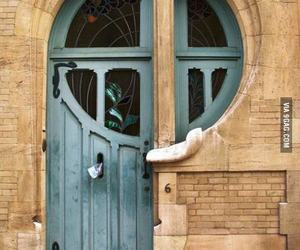 door, green, and architecture image