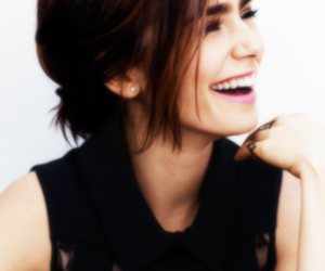 lily collins, smile, and beautiful image