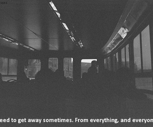 quote, alone, and get away image
