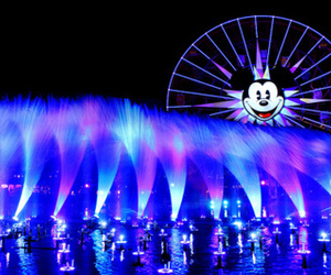 disney, light, and mickey mouse image