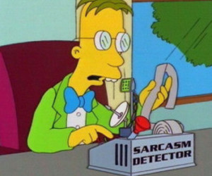 sarcasm and simpsons image