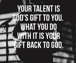 god, talent, and gift image