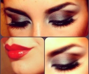 lips, make up, and red image
