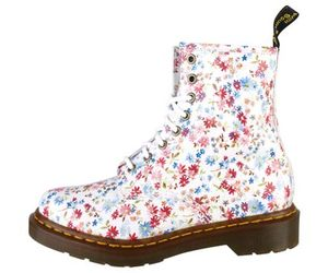 combat boots and flowers image