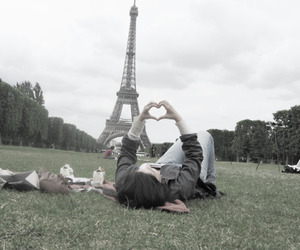 paris, girl, and heart image