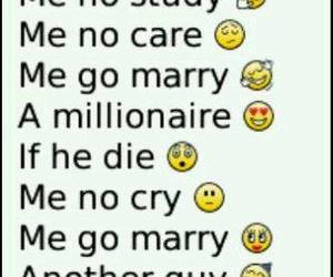 funny, marry, and millionaire image