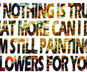 all time low, painting flowers, and Lyrics image