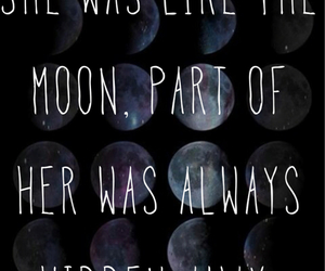 moon, quote, and hidden image