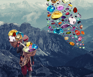 Collage, gems, and eugenia loli image