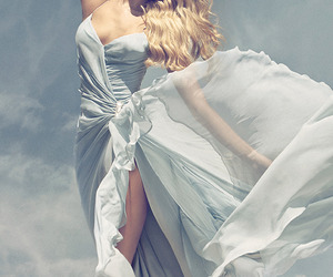 dress, beauty, and blonde image