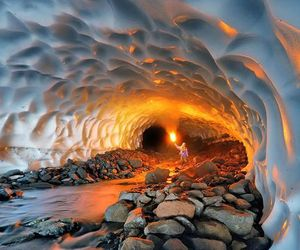cave, snow, and russia image