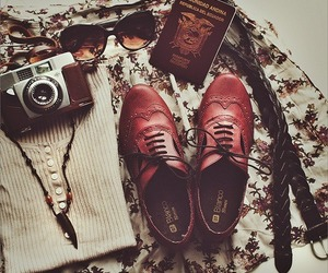 vintage, shoes, and camera image