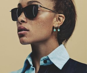 black woman, freckles, and model image