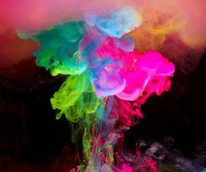 colors, smoke, and pink image