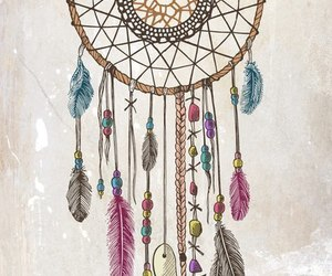 background, drawing, and dream catcher image