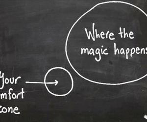 magic, quotes, and comfort zone image