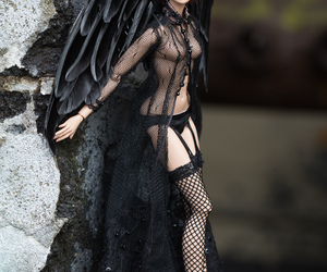 doll, witch, and black wings image