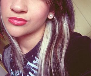 girl, hair, and lipstick image