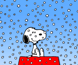 snow, cartoon, and dog image