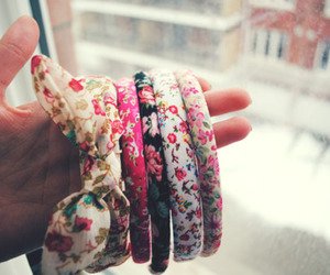 floral, bracelet, and bow image