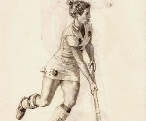 girl, hockey, and sport image