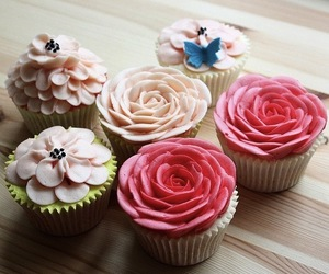 cupcake, cute, and pink image